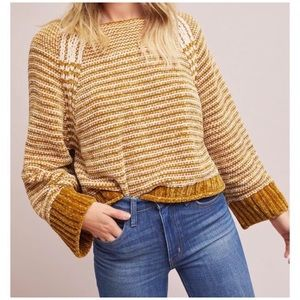 Anthropologie Moth Chenille Cropped Sweater. XS
